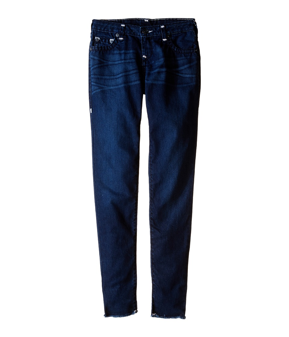 True Religion Kids - Casey Raw Edge Midnight Super T Jeans in Jet Blue (Big Kids) (Jet Blue) Girl's Jeans
