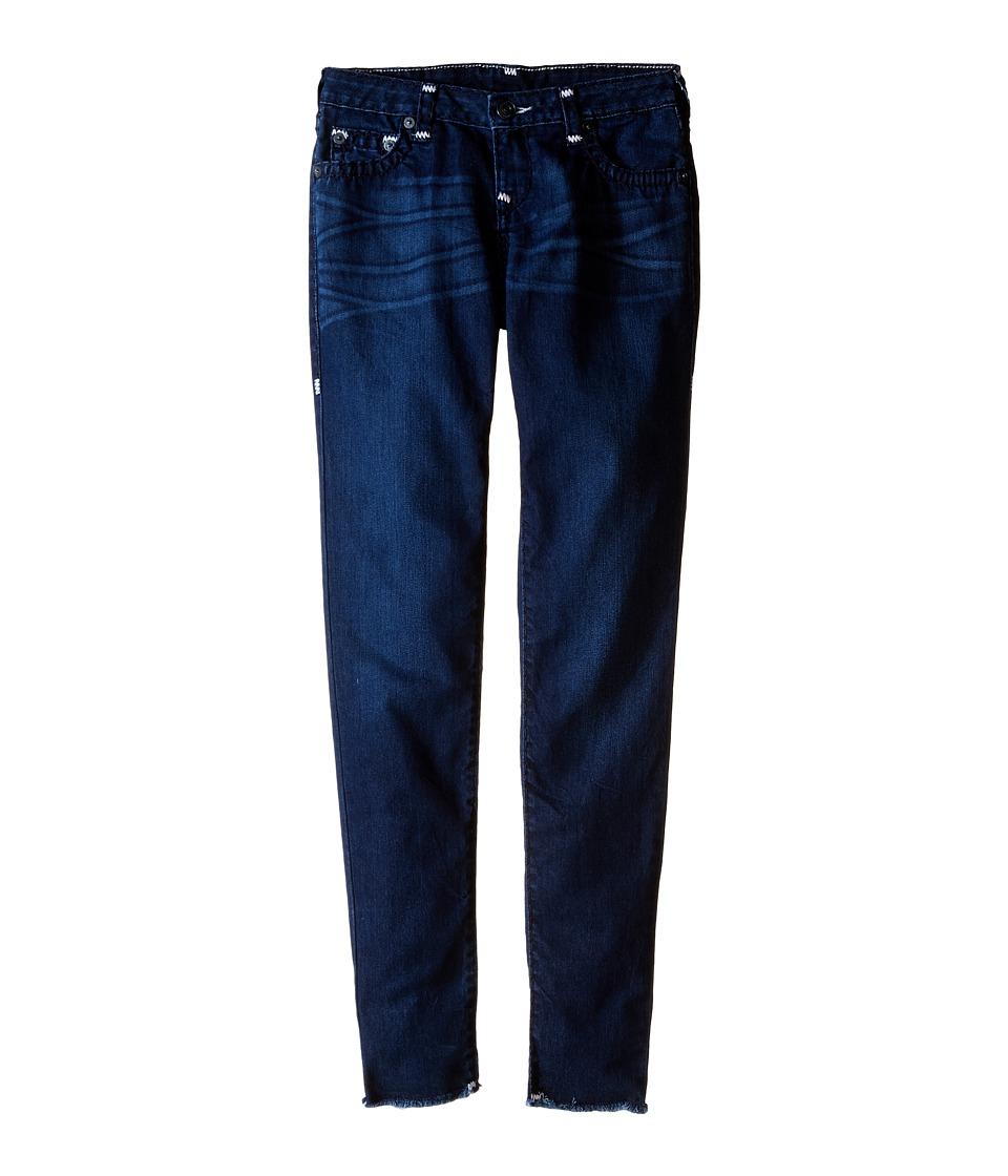 True Religion Kids Casey Raw Edge Midnight Super T Jeans in Jet Blue (Big Kids) (Jet Blue) Girl