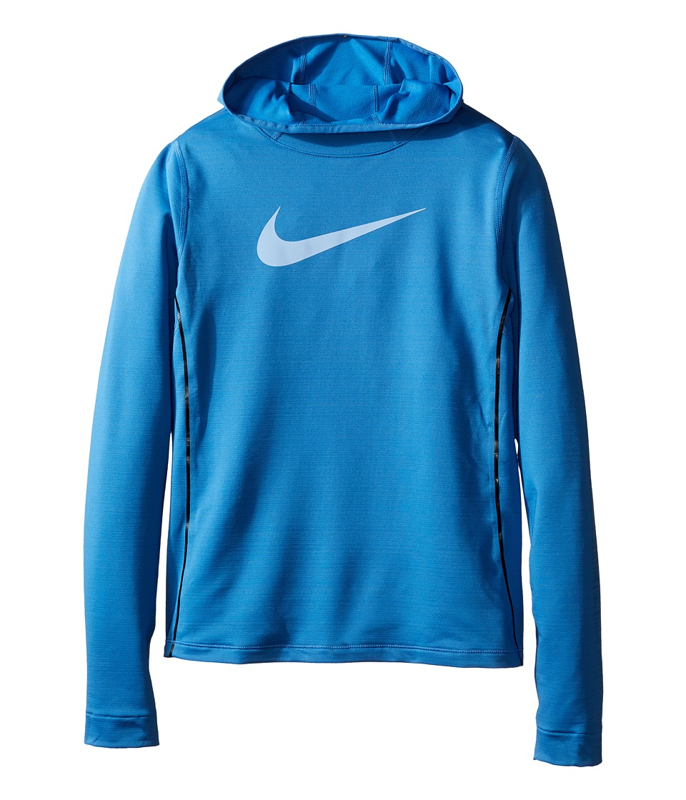 Nike Kids - Pro Hyperwarm Pullover Hoodie (Little Kids/Big Kids) (Star Blue/Star Blue/Light Blue) Girl's Sweatshirt