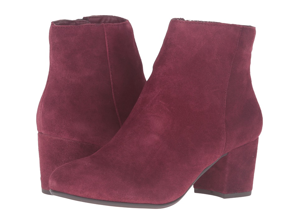Steve Madden Holster Burgundy Suede Womens Pull-on Boots