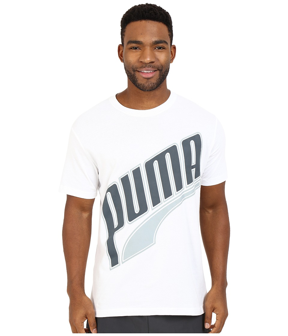 PUMA - Form Stripe Tilt Tee (White) Men's T Shirt