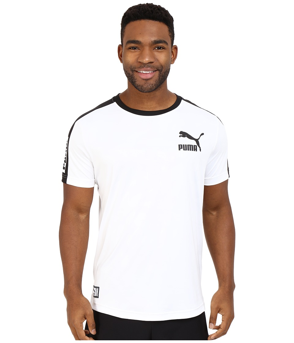 PUMA - Short Sleeve Ball Jersey (White/Black) Men's T Shirt