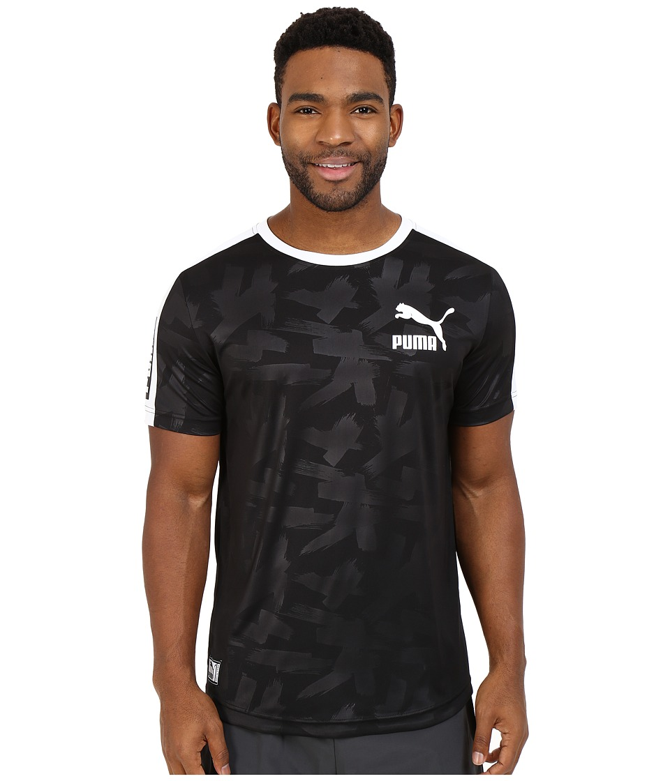 PUMA - Short Sleeve Ball Jersey (Black/White) Men's T Shirt
