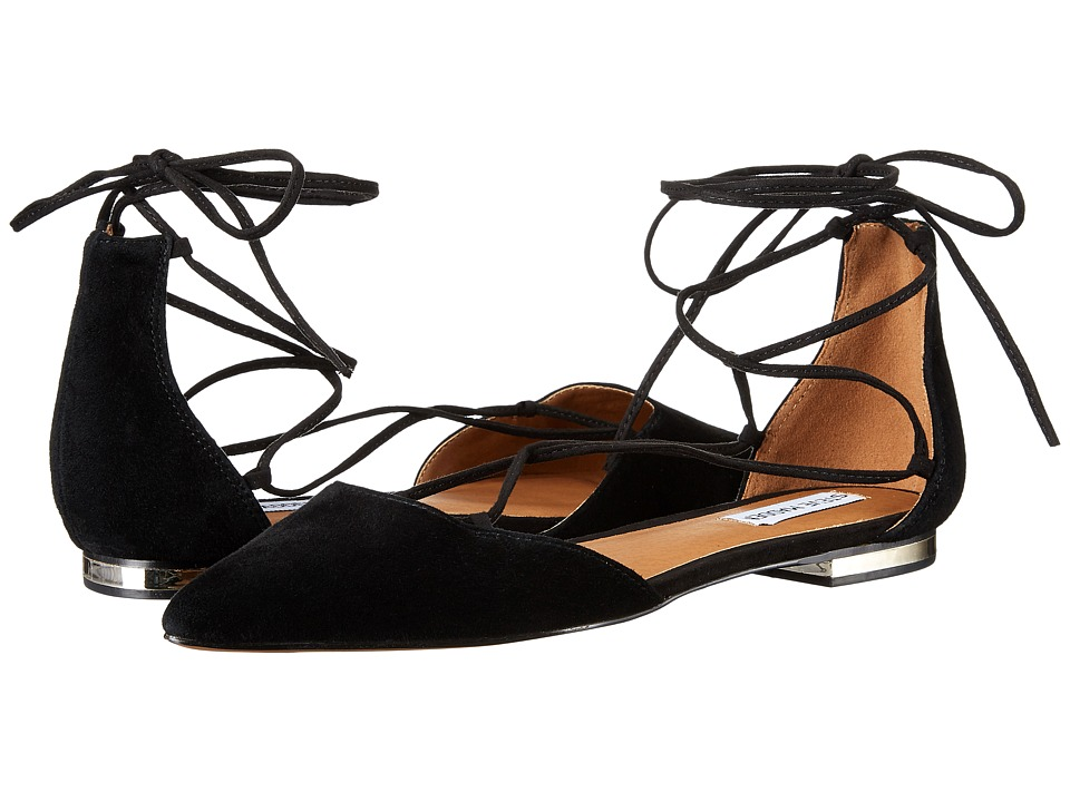 Steve Madden - Sunshine (Black Suede) Women's Flat Shoes