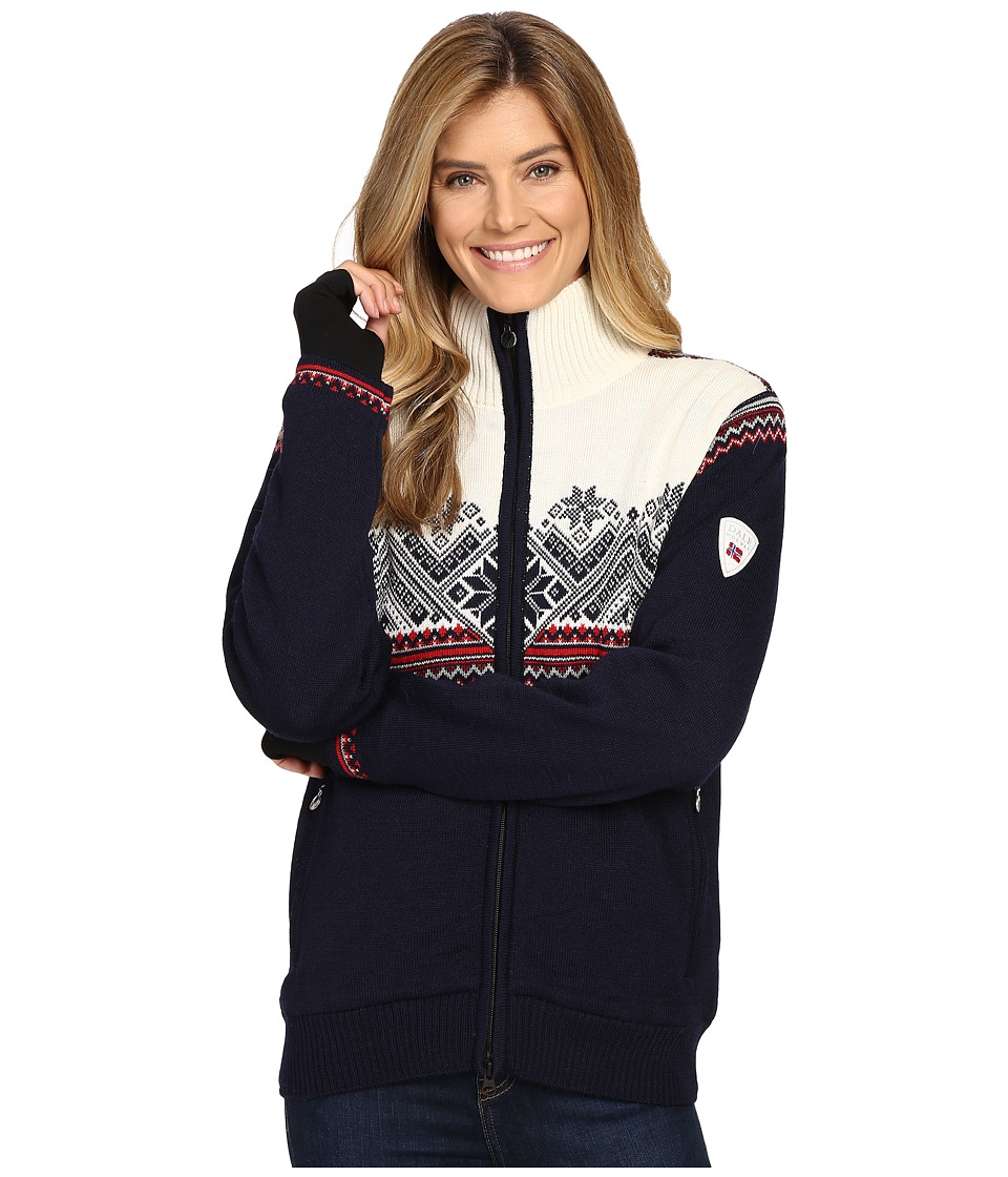 Dale of Norway - Glittertind Jacket (Navy/Off-White) Women's Coat