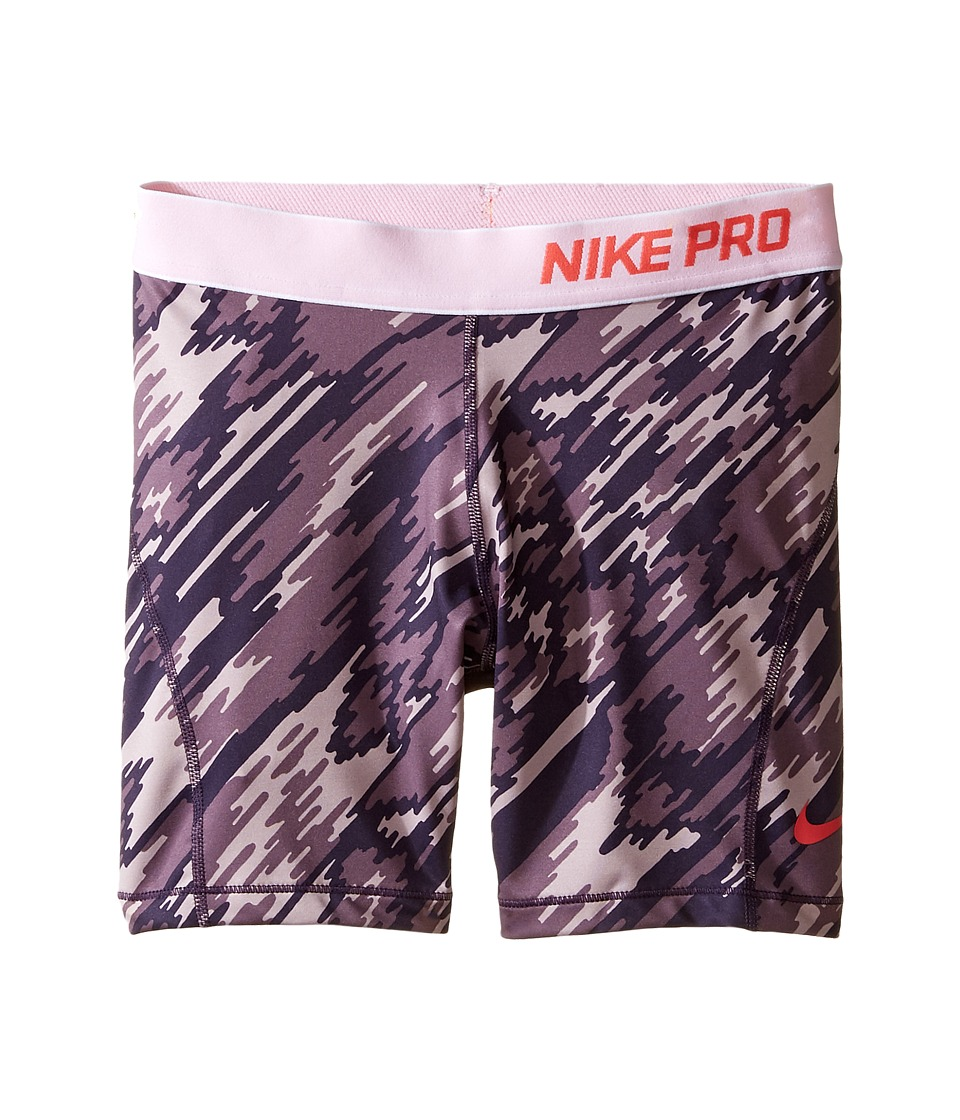 Nike Kids - Pro Cool Training Short AOP2 (Little Kid/Big Kid) (Purple Dynasty/White/Ember Glow) Girl's Shorts
