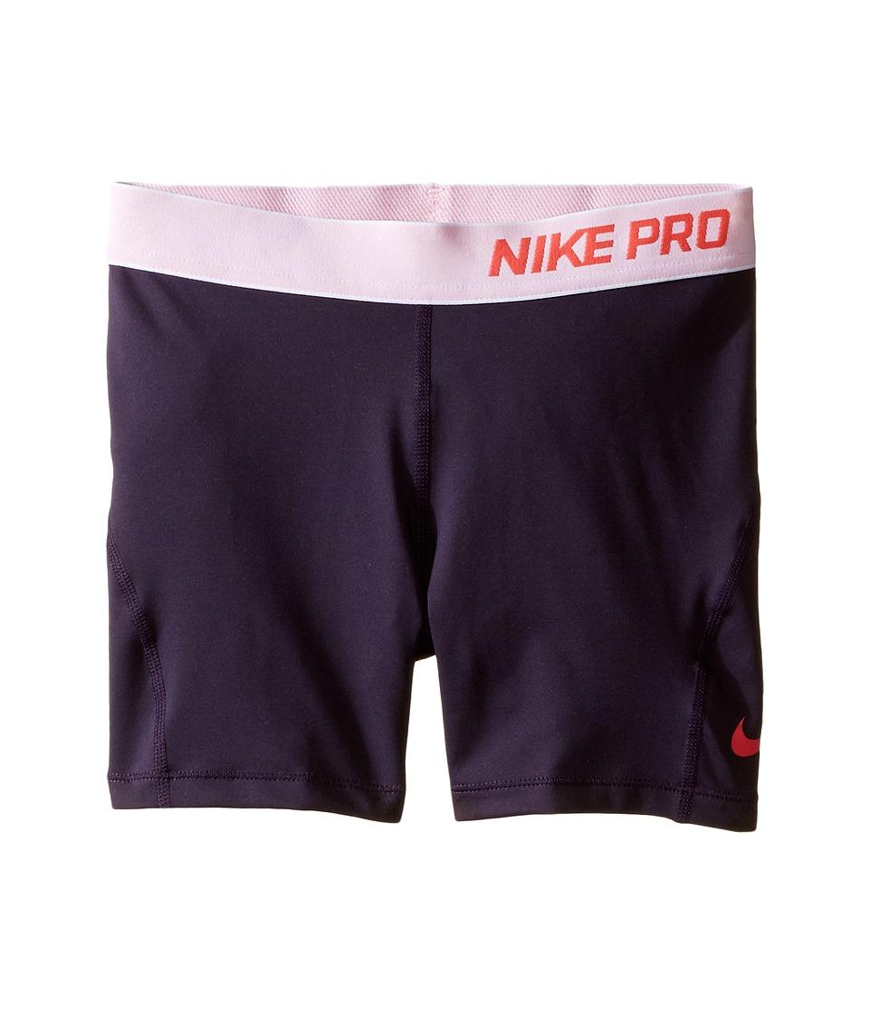 Nike Kids - Pro Cool 4 Training Short (Little Kid/Big Kid) (Purple Dynasty/White/Ember Glow) Girl's Shorts