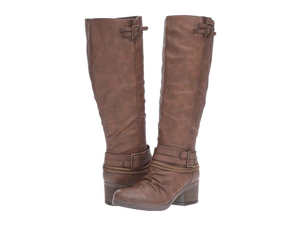 CARLOS by Carlos Santana - Candace Wide-Calf (Brown) Women's Boots