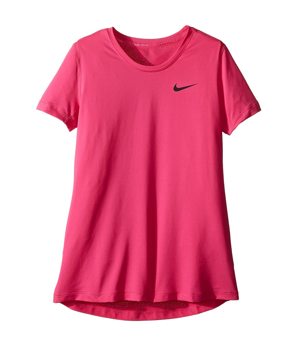 Nike Kids - Pro Cool Short Sleeve Training Top (Little Kids/Big Kids) (Vivid Pink/Vivid Pink/Black) Girl's Clothing