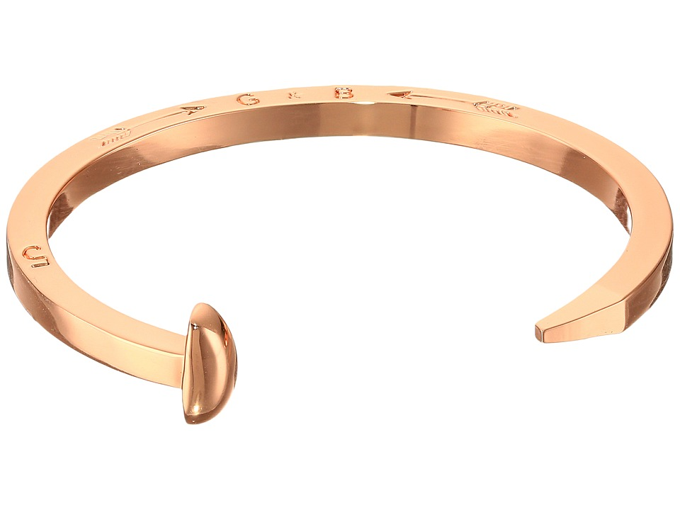 Giles & Brother - Skinny Railroad Spike Cuff (Rose Gold) Bracelet