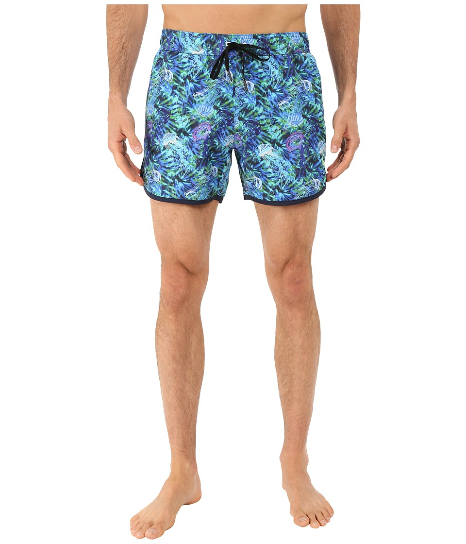 Rainforest - Jellyfilsh Garden Trunks (Blue) Men's Swimwear