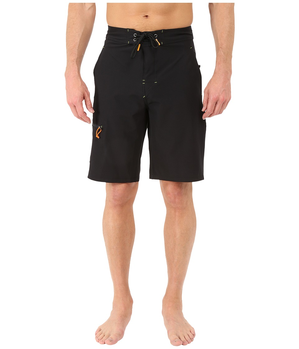 Rainforest - Wayne Boardshorts in Stretch Oxford (Black) Men's Swimwear