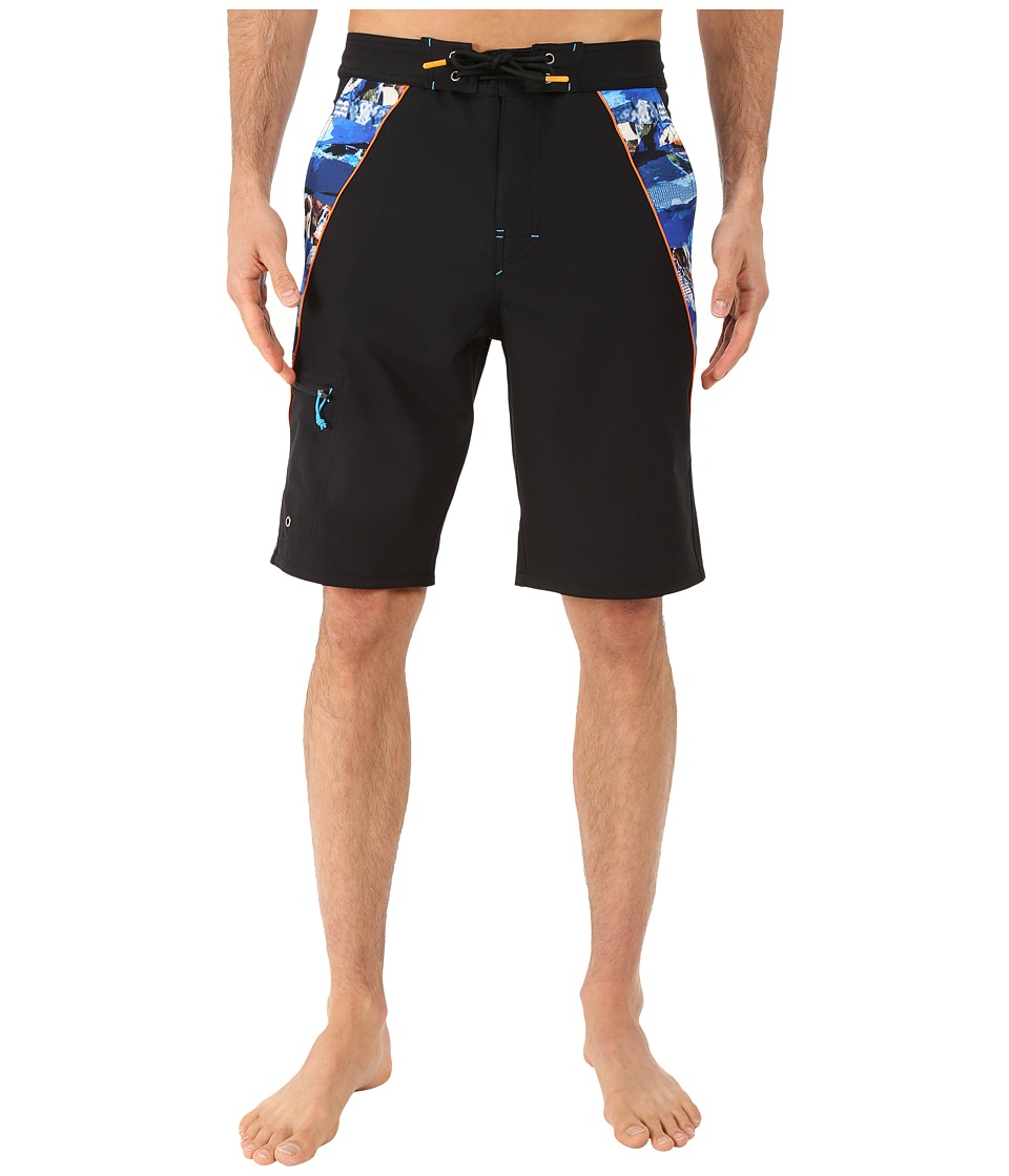 Rainforest - Avatar Splice Boardshorts in Stretch Oxford (Black) Men's Swimwear