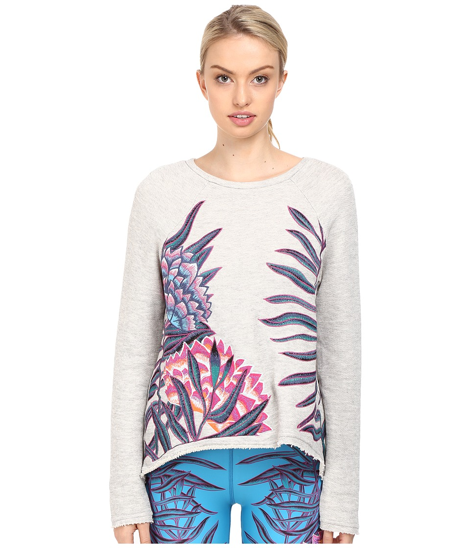 Mara Hoffman - Floral Embroidered Sweatshirt (Grey) Women's Sweatshirt