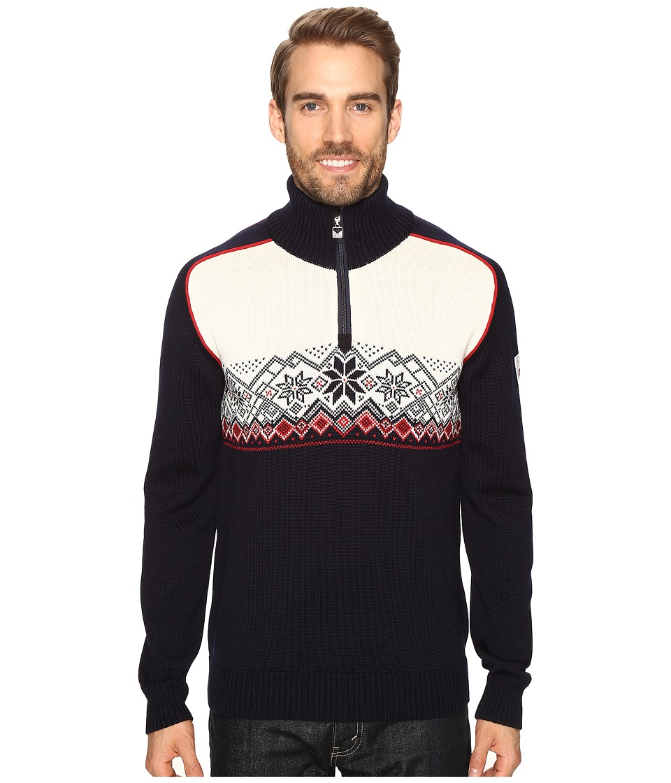 Dale of Norway - Frostisen Sweater (Navy/Raspberry) Men's Sweater