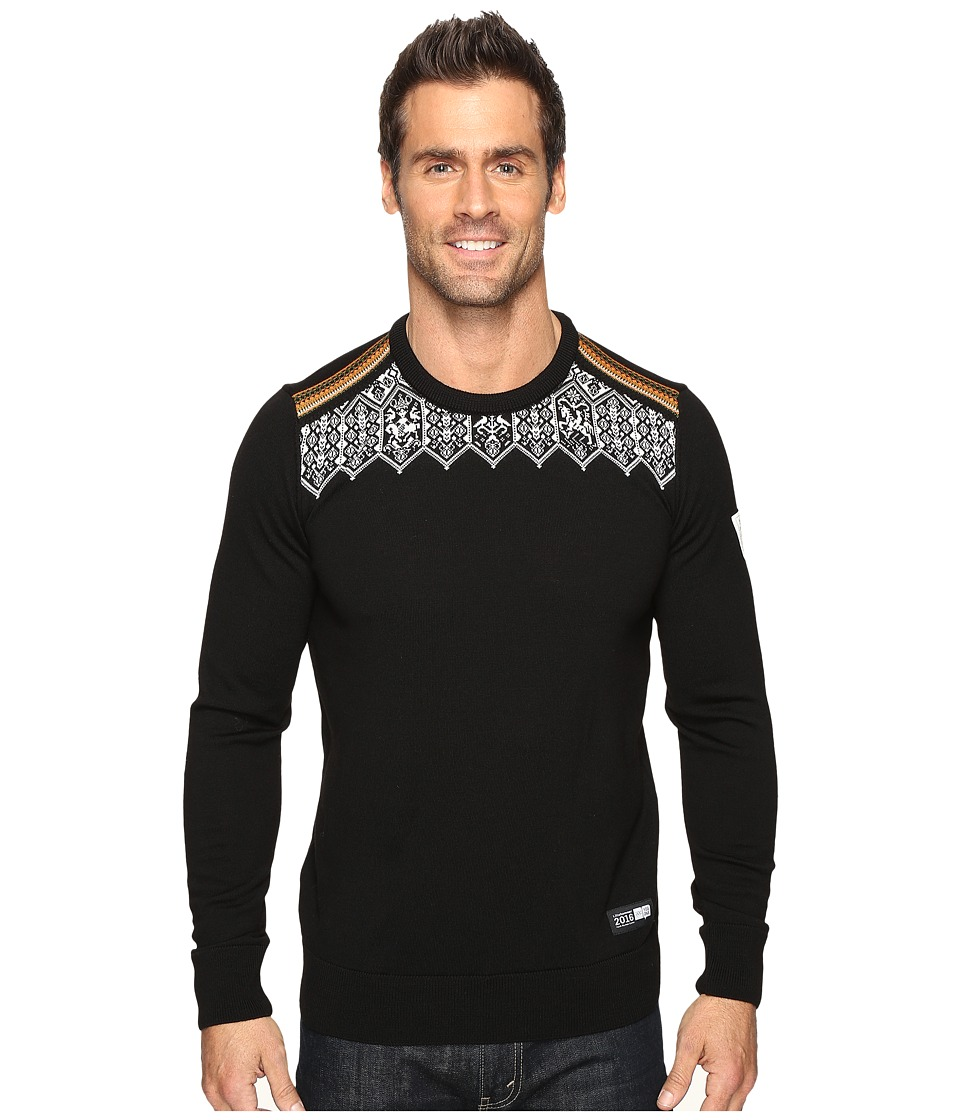 Dale of Norway - Lillehammer Sweater (Black/Orange Peel) Men's Sweater