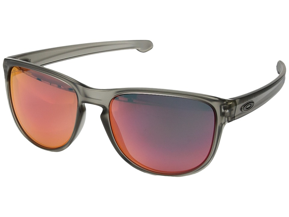 Oakley - Sliver R (Matte Grey Ink w/ Torch Iridium Polarized) Fashion Sunglasses