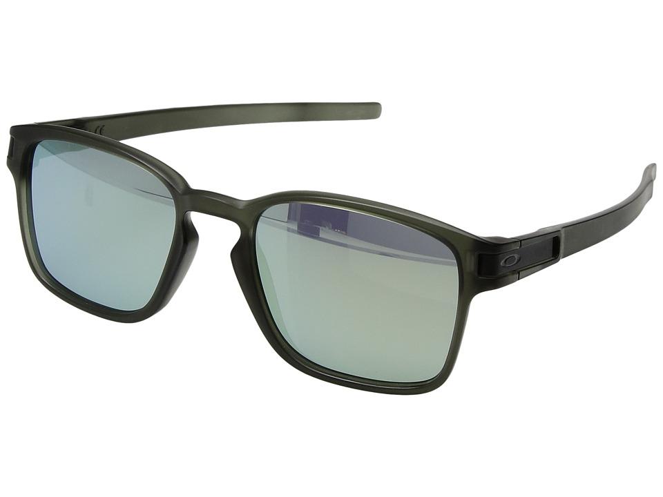 Oakley Latch Squared (Matte Olive Ink w/ Emerald Iridium) Fashion Sunglasses