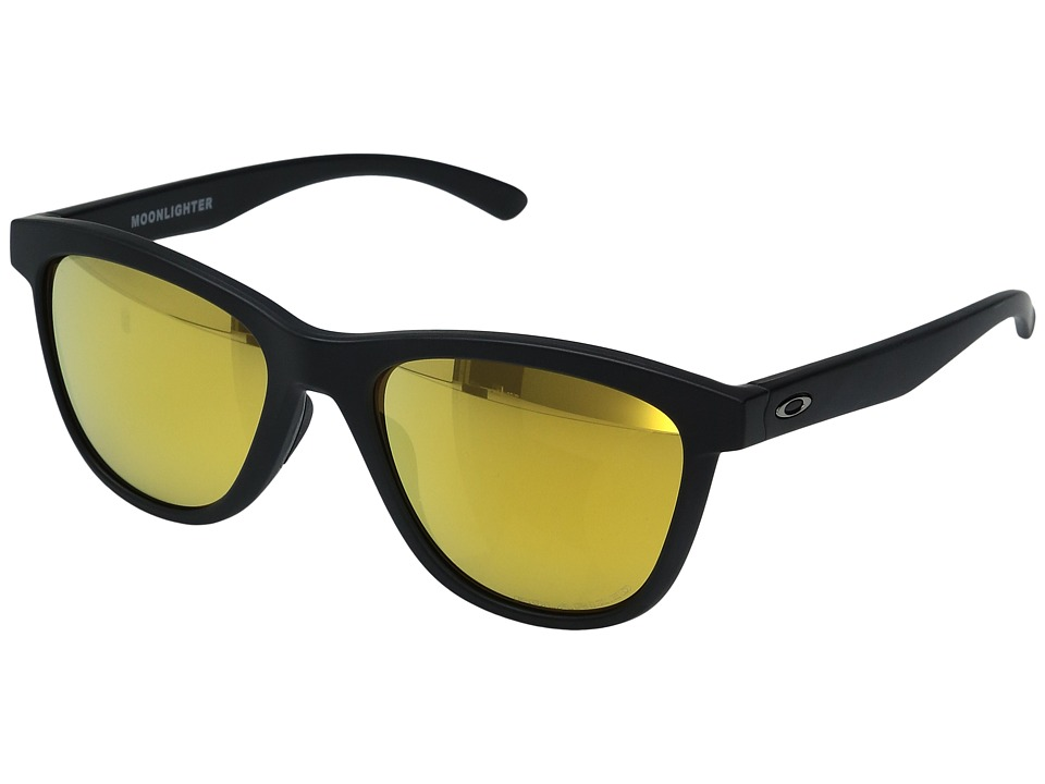 Oakley - Moonlighter (Matte Black w/ 24K Iridium Polarized) Plastic Frame Fashion Sunglasses