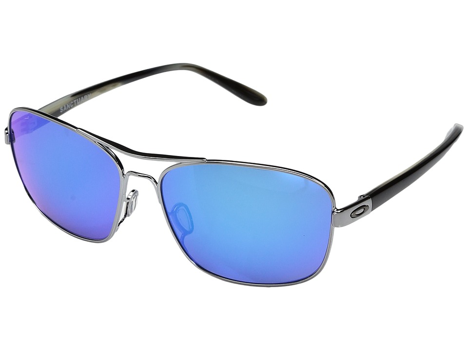 Oakley - Sanctuary (Gunmetal w/ Sapphire Iridium) Fashion Sunglasses