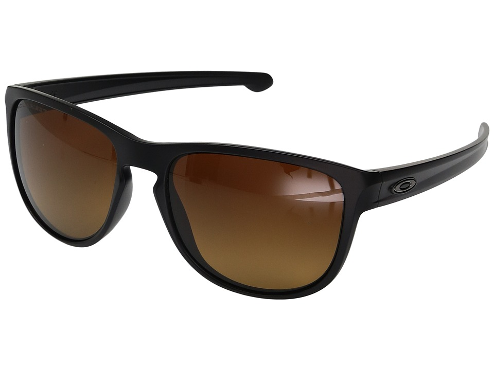 Oakley - Sliver R (Matte Black w/ Brown Gradient Polarized) Fashion Sunglasses