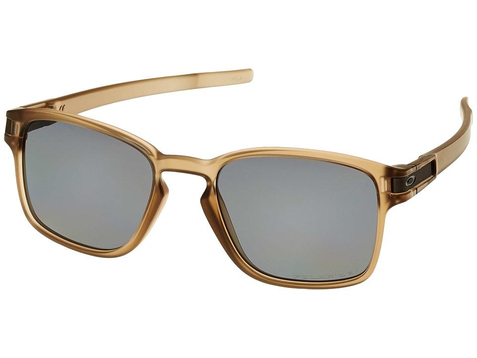 Oakley Latch Squared (Matte Sepia w/ Grey Polar) Fashion Sunglasses