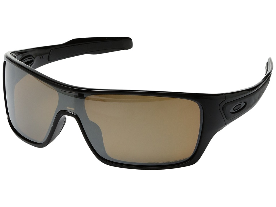 Oakley - Turbine Rotor (Polished Black w/ Tungsten Iridium Polarized) Fashion Sunglasses