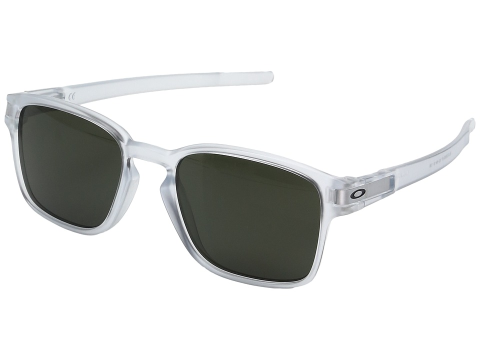 Oakley - Latch Squared (Matte Clear w/ Dark Grey) Fashion Sunglasses