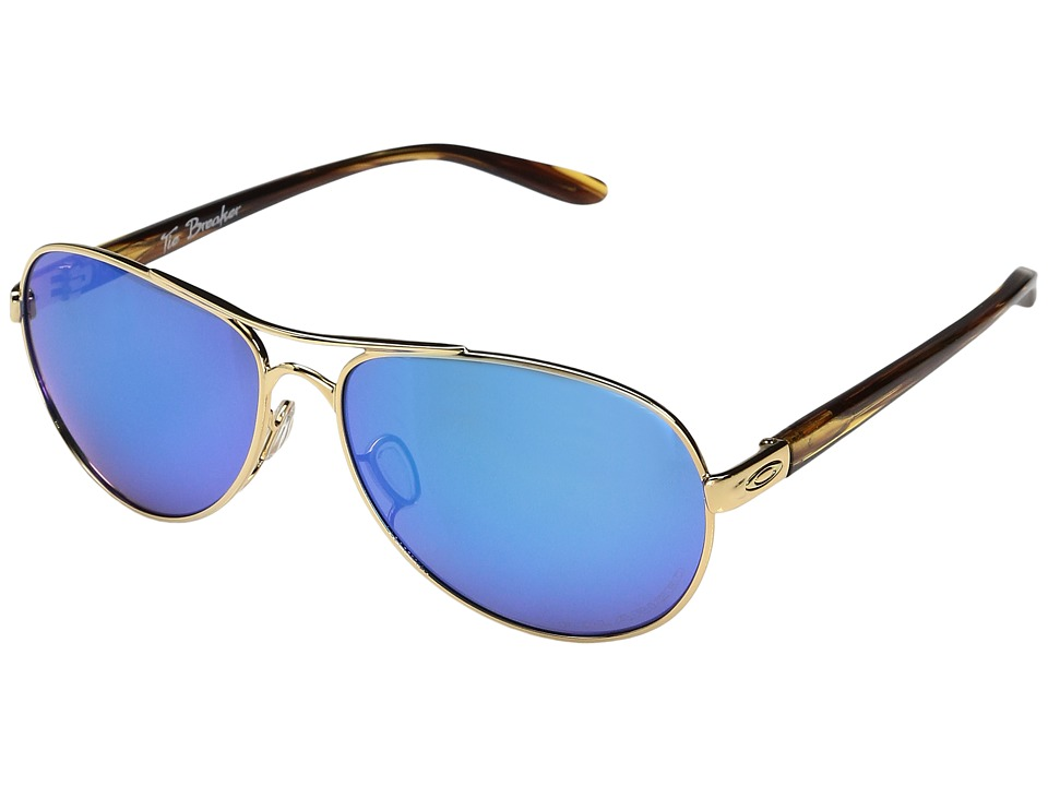 Oakley - Tie Breaker (Polished Gold w/ Sapphire Iridium Polarized) Snow Goggles