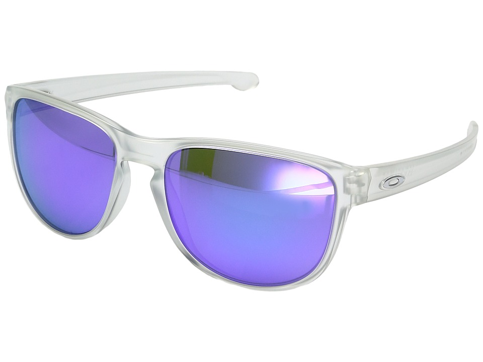 Oakley - Sliver R (Matte Clear w/ Violet Iridium) Fashion Sunglasses