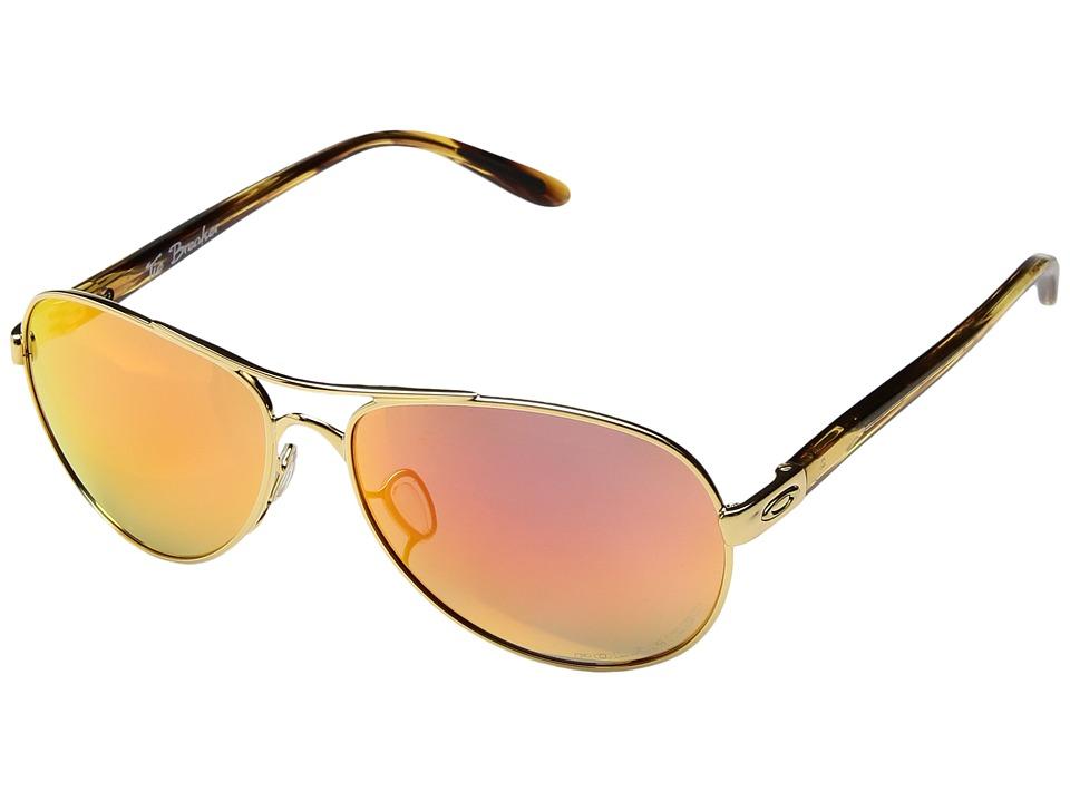 Oakley Tie Breaker (Polished Gold w/ Ruby Iridium Polarized) Snow Goggles