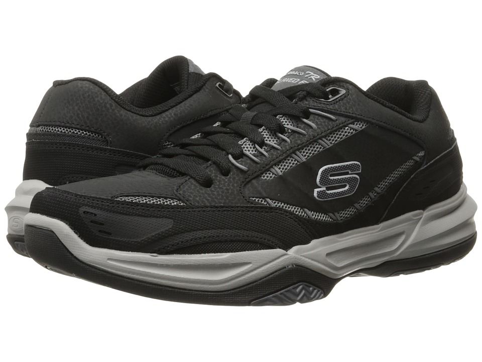 SKECHERS - Monaco TR Swift Step (Black/Gray) Men's Lace up casual Shoes