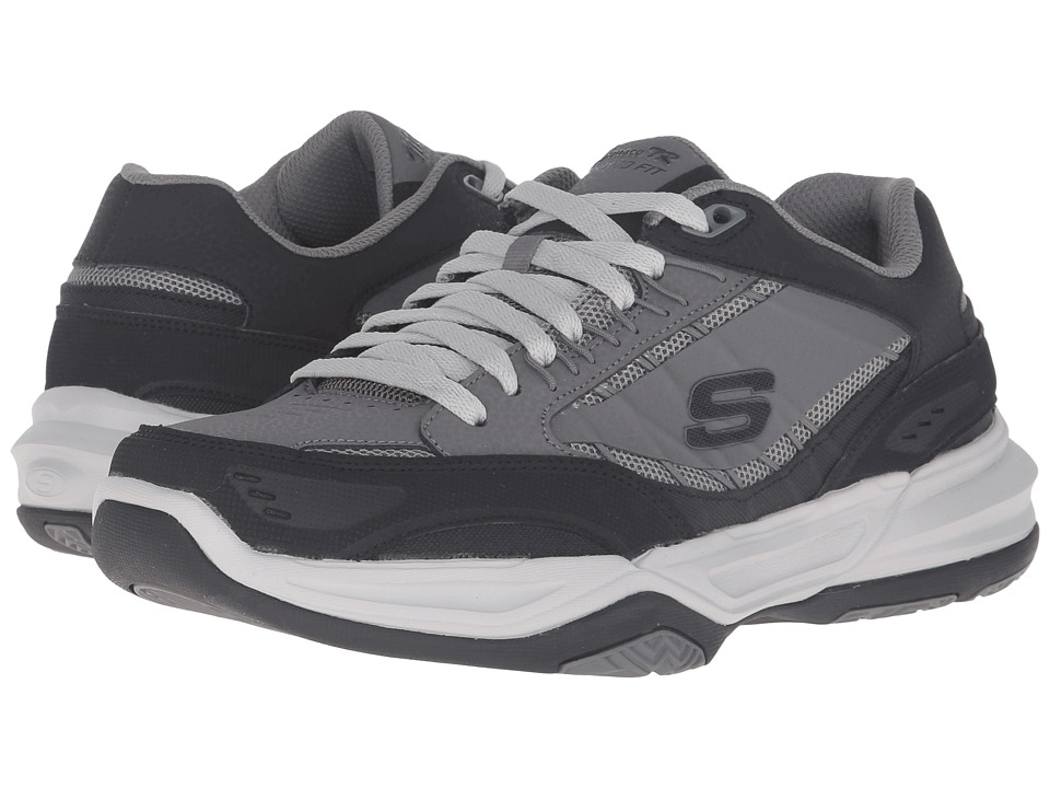 SKECHERS - Monaco TR Swift Step (Charcoal/Black) Men's Lace up casual Shoes