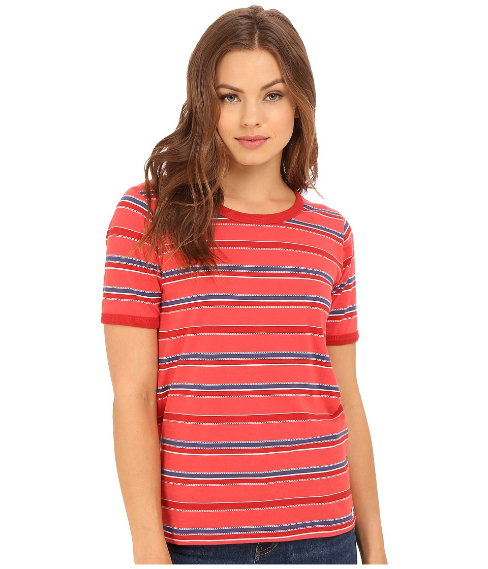 Obey - Porterville Crew (Poppy Multi) Women's Clothing