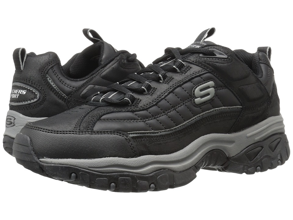 SKECHERS - Energy Downforce MF (Black) Men's Lace up casual Shoes