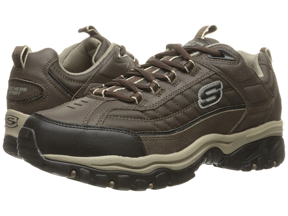 SKECHERS - Energy Downforce MF (Brown/Taupe) Men's Lace up casual Shoes