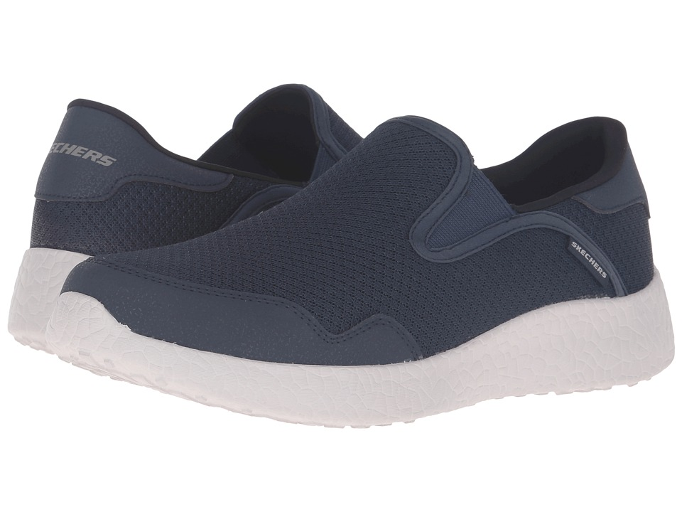SKECHERS Burst Just in Time Navy Mens Lace up casual Shoes