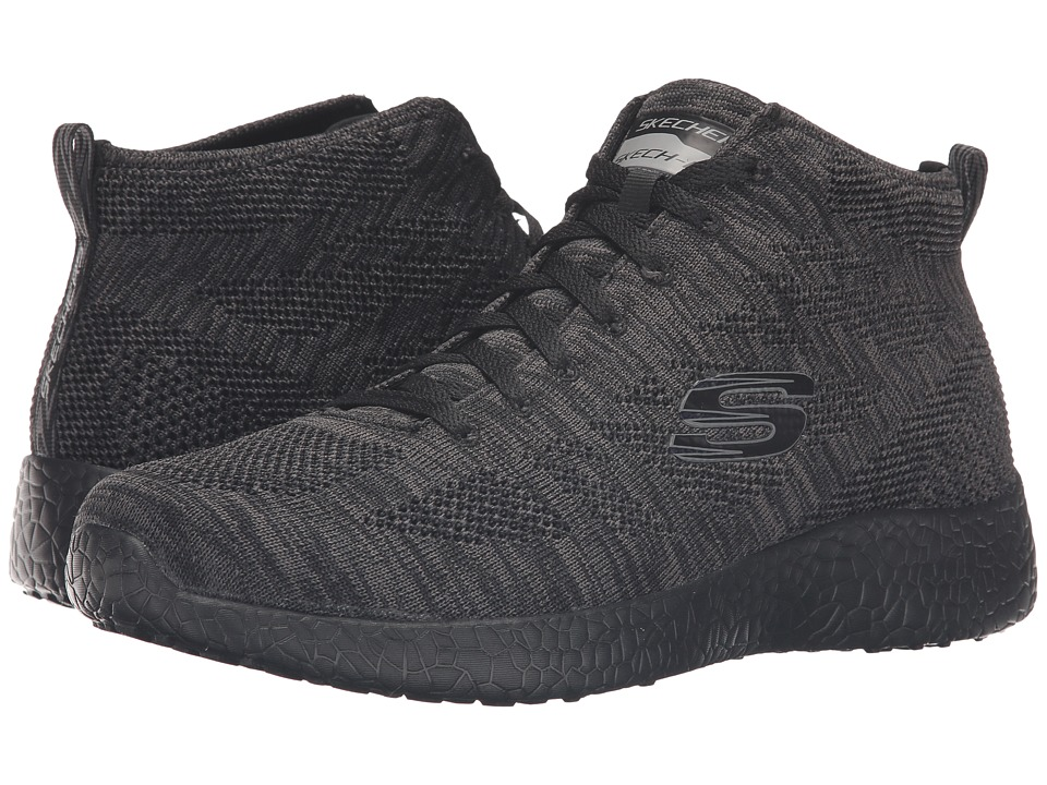 SKECHERS - Burst Up and Under (Black) Men's Lace up casual Shoes