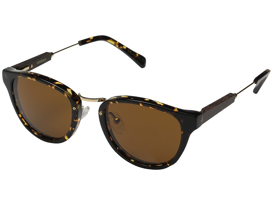 Shwood - Ainsworth (Dark Speckle/Gold/Brown) Fashion Sunglasses