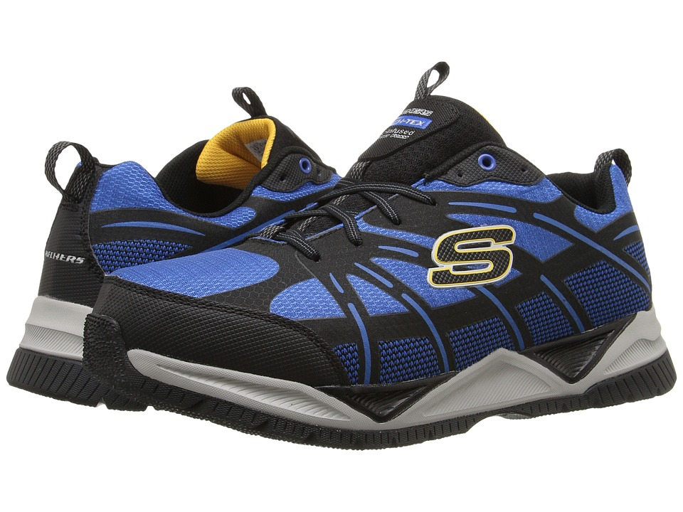 SKECHERS - Skech-Tex (Blue/Black) Men's Lace up casual Shoes
