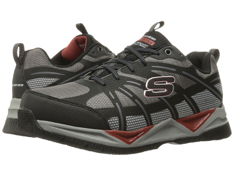 SKECHERS - Skech-Tex (Charcoal/Black) Men's Lace up casual Shoes