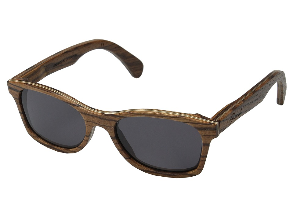 Shwood - Cannon (Zebrawood/Grey) Fashion Sunglasses
