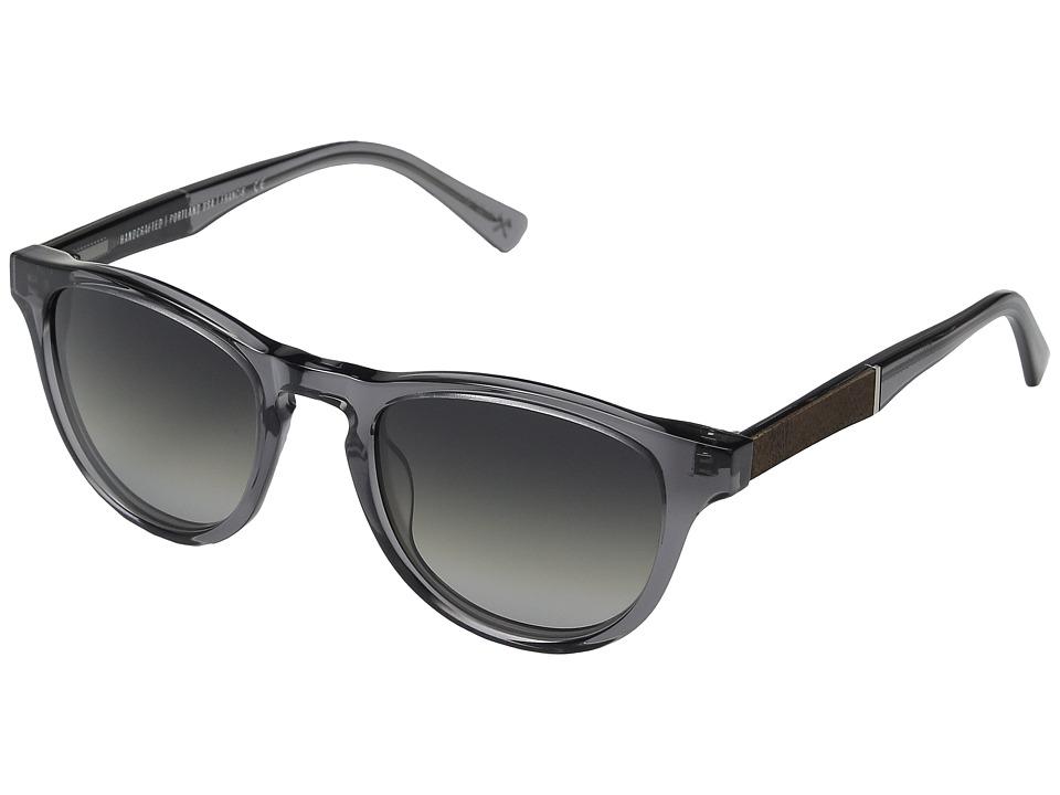 Shwood - Francis (Smoke/Elm Burl/Grey Fade Polarized) Sport Sunglasses