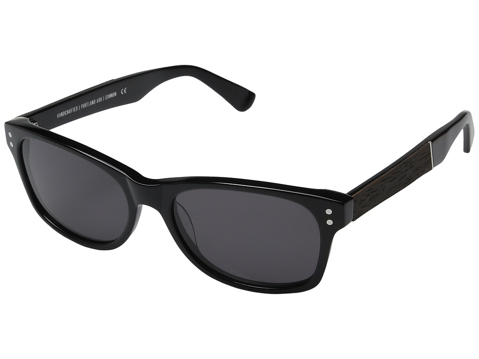 Shwood - Cannon (Black/Ebony/Grey) Fashion Sunglasses