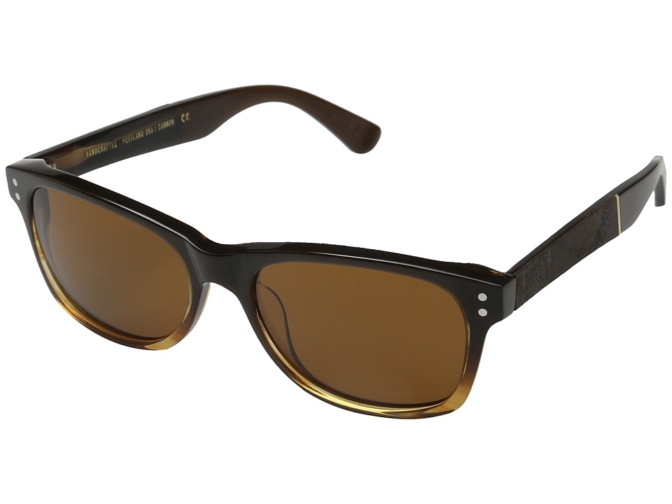 Shwood - Cannon (Sweet Tea/Elm Burl/Brown) Fashion Sunglasses