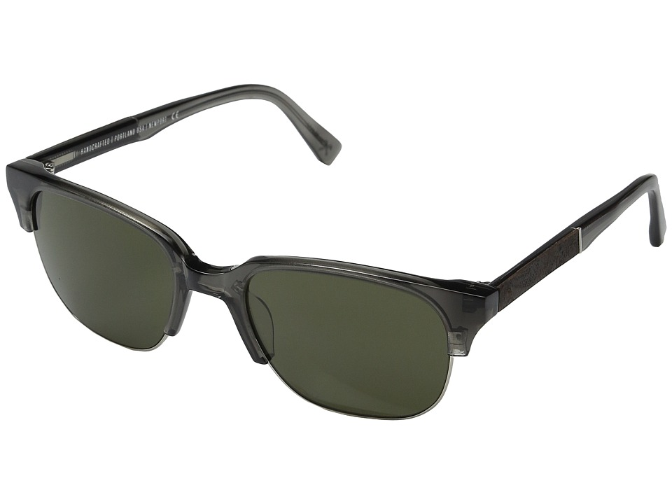 Shwood - Newport 52mm (Charcoal/Elm Burl/G15) Fashion Sunglasses