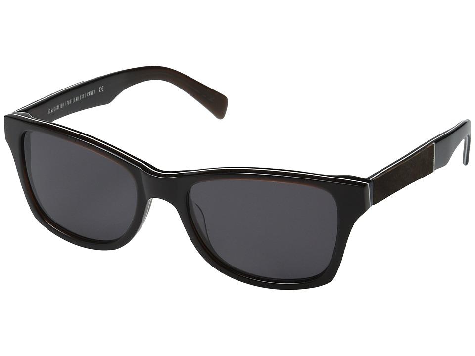Shwood - Canby (Espresso/Elm Burl/Grey) Sport Sunglasses