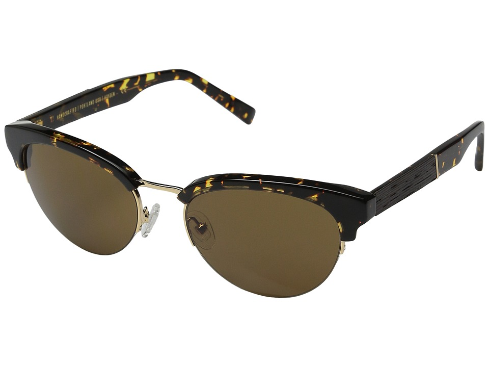 Shwood - Hayden (Dark Speckle/Gold/Brown) Fashion Sunglasses