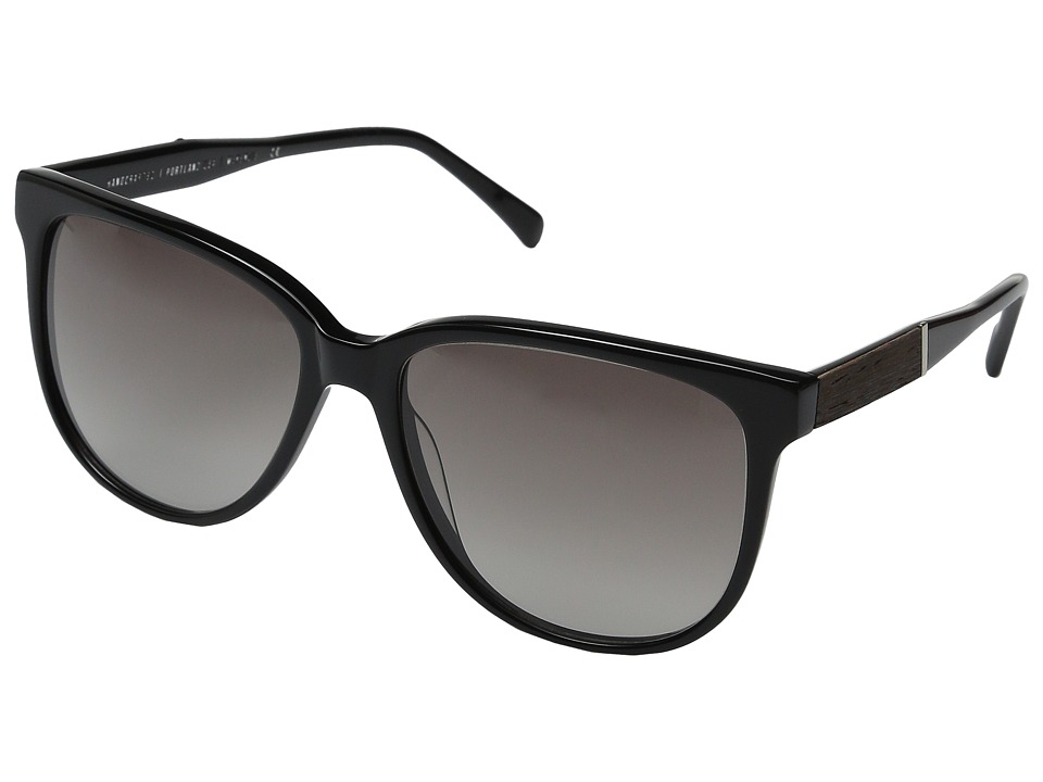 Shwood - Mckenzie (Black/Ebony/Grey Fade) Fashion Sunglasses