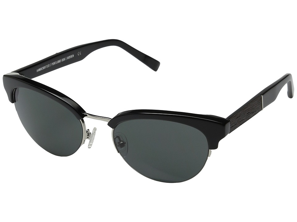 Shwood - Hayden (Black/Silver/Grey) Fashion Sunglasses